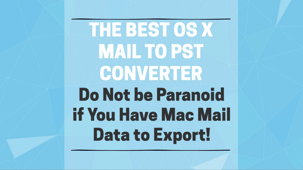 os x mail to pst