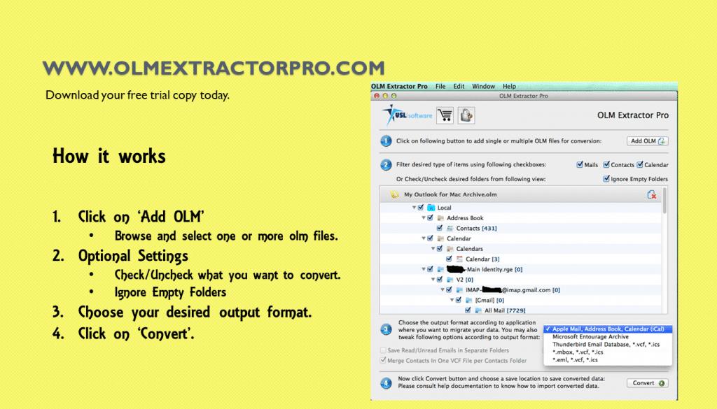 Export Outlook Mac to Thunderbird