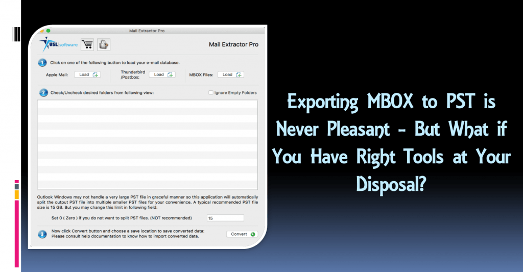 How to export MBOX to PST