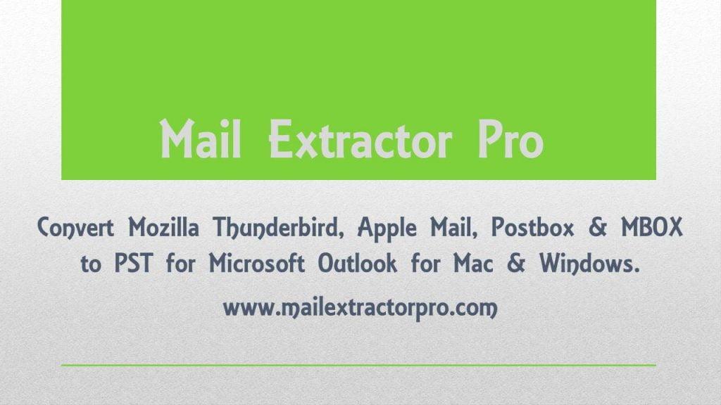 export thunderbird mails into pst