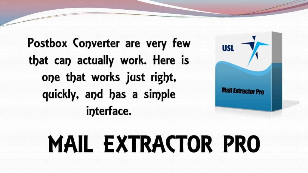Postbox Converter Software